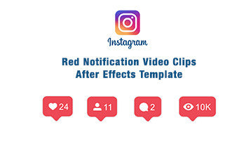 Instagram red notification Animation Template