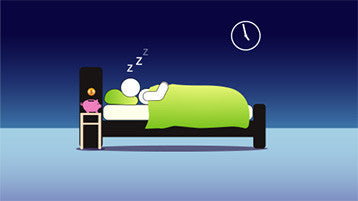Stick Man sleeping Passive Income Animation After Effects