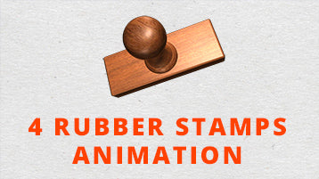 4 Rubber Stamps After Effects Animation
