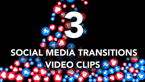 3 Social Media Icons Transitions