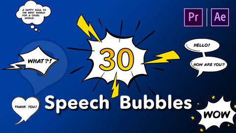 30 Speech Bubbles in After Effects and Premiere Pro