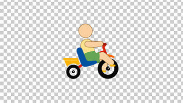 Kid Tricycle Animation