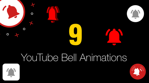 9 YouTube Bell Animations - Videos & AE Project Included