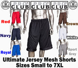 Pro Club Jersey Heavyweight Basketball Shorts