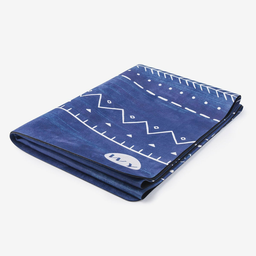 Egyptian Blue | Rubber Backed Yoga Mat Towel