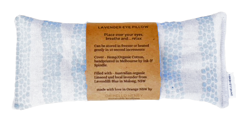 Blue Pebbles | Organic Linen Eye Pillow