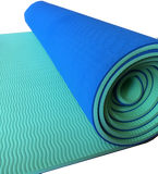 Reversible Blue + Green | Extra Thick Foam Yoga Mat