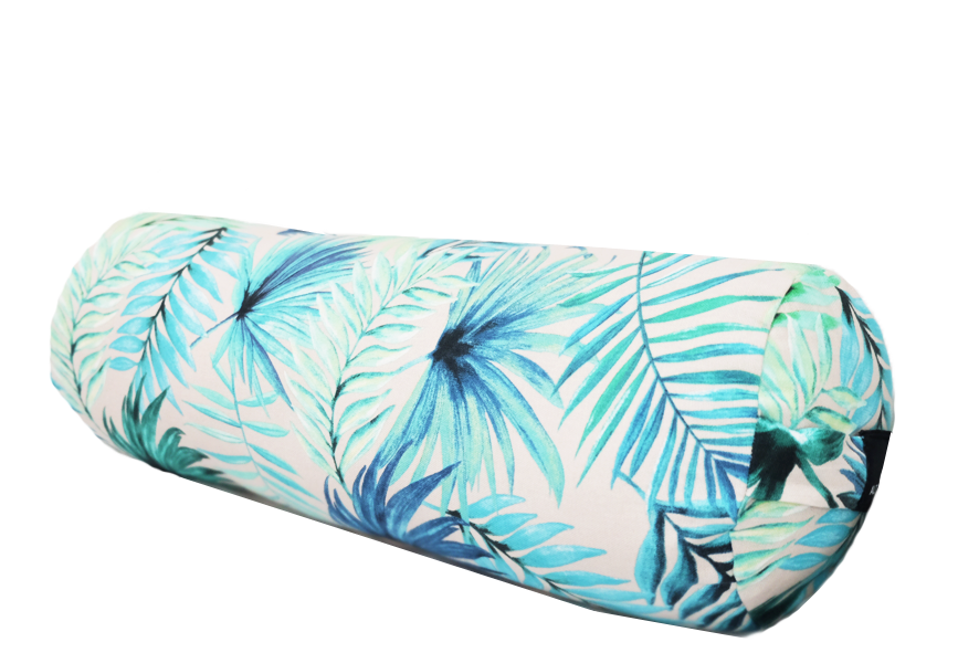 Blue Palm | Cylinder Yoga Bolster