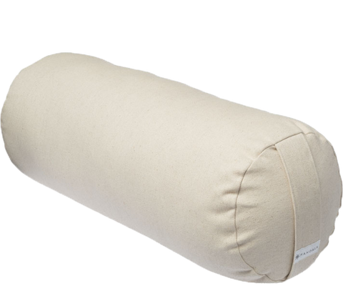 White Cherry Blossoms | Cylinder Brushed Cotton Yoga Bolster
