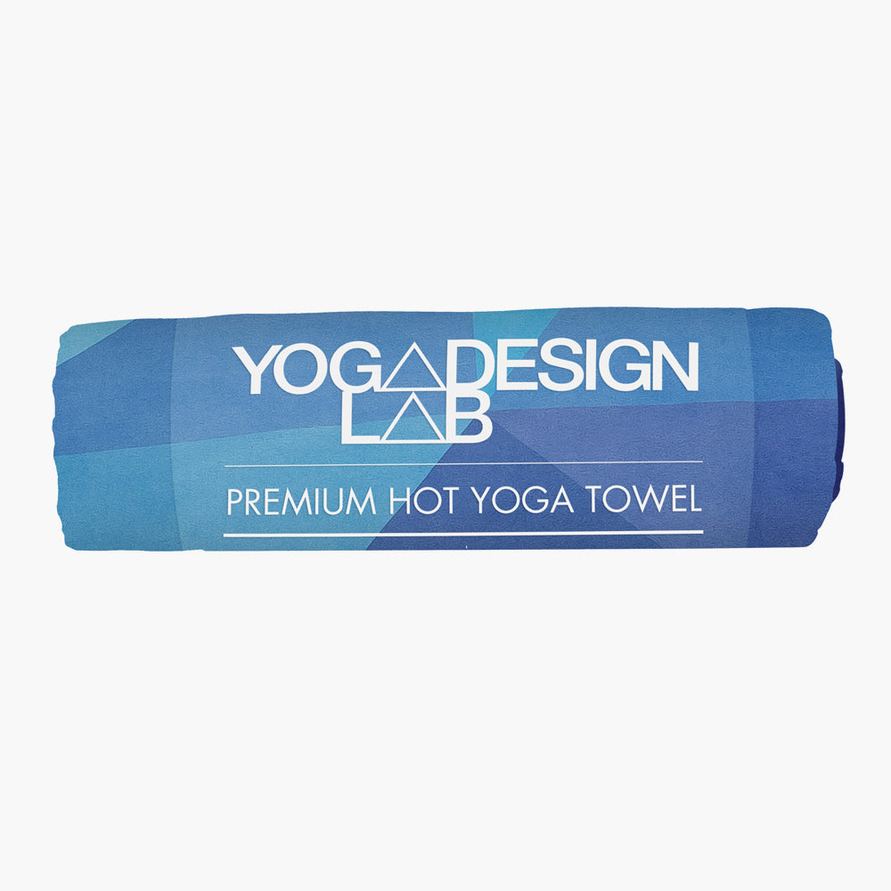 Geo Blue Yoga Towel