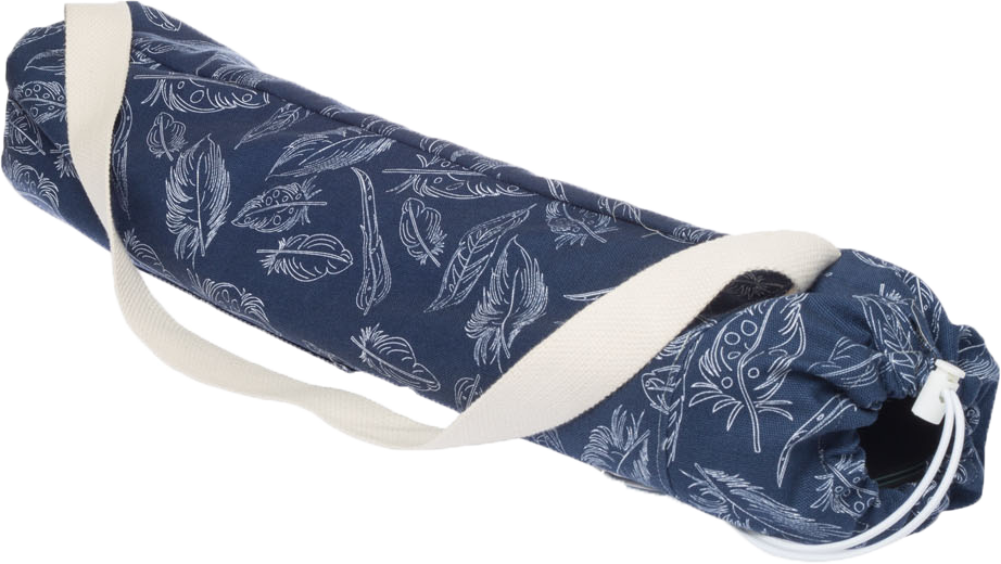 Navy Feathers | Premium Yoga Mat Bag