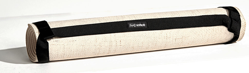 "Yoga Mat carrier strap sling Biodegradable Natural Jute High Performance Cotton Non-slip Hot Yoga Eco-friendly Yoga Mats Australia ""the OM shop"""