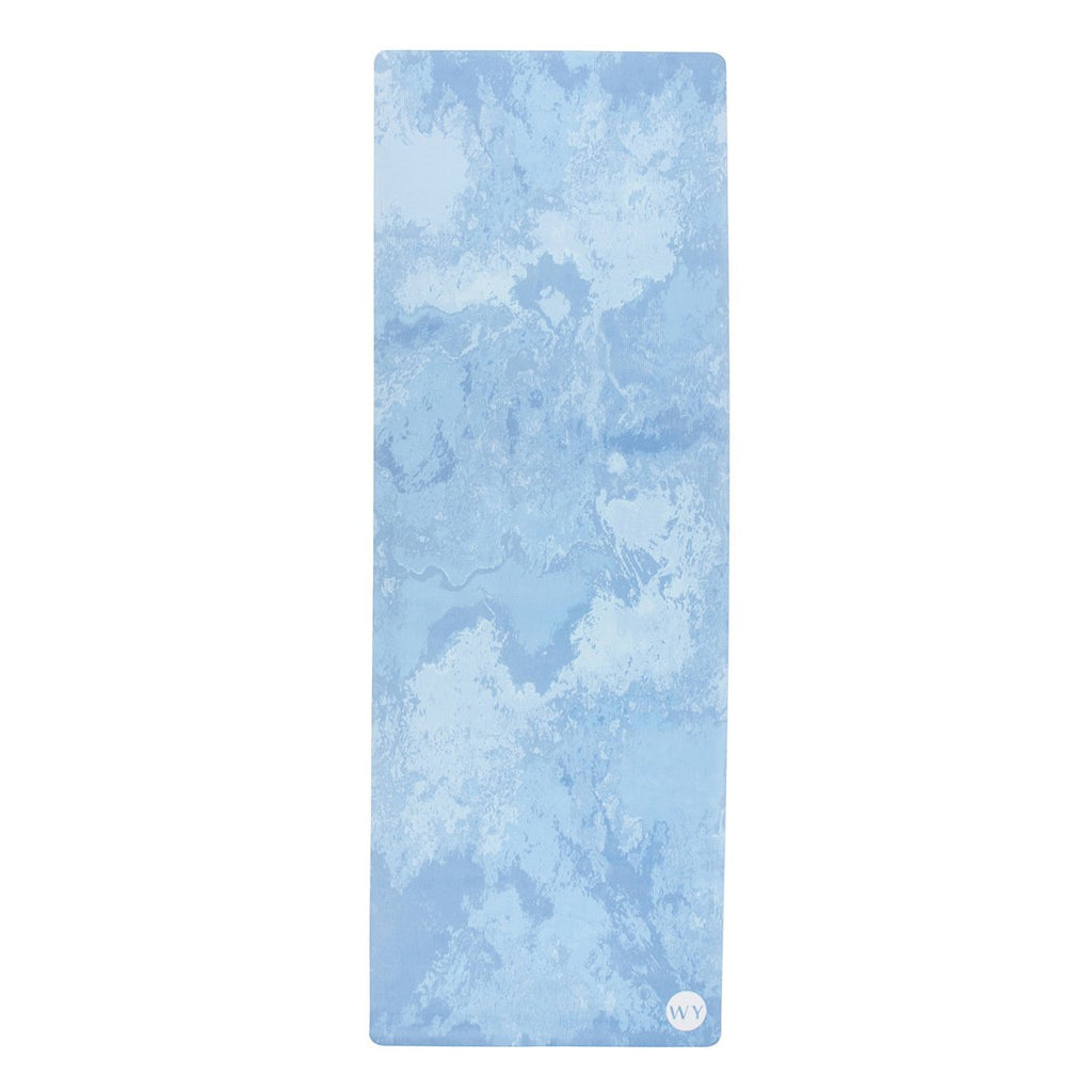 Moonstone Blue | Rubber Backed Yoga Mat Towel