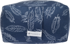 Blue Feathers | Rectangle Brushed Cotton Yoga Bolster
