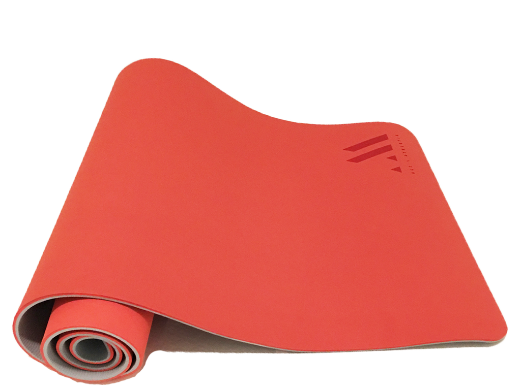 Reversible Orange + Grey | Extra Thick Foam Yoga Mat