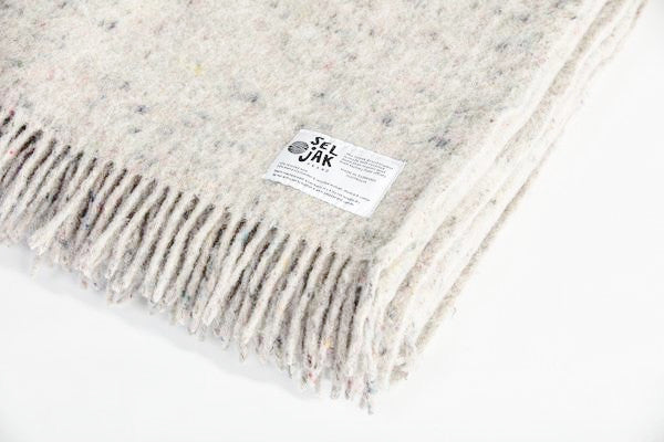Grey Fringe | Recycled Wool Australian Made Blanket