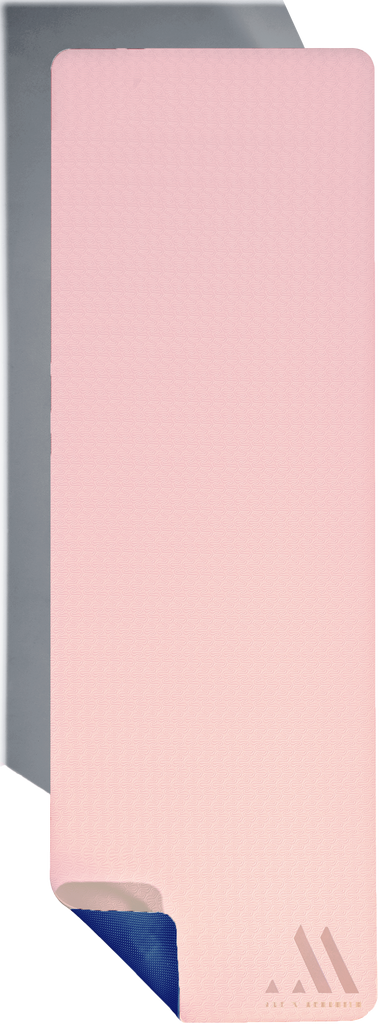 Reversible Blush Pink + Purple | 6mm Thick Foam Yoga Mat