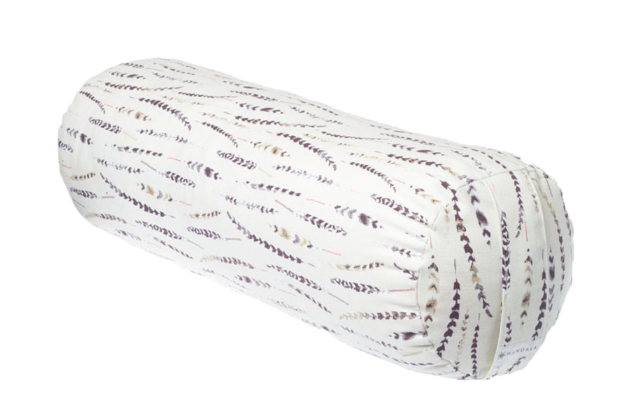 Feathers | Cylinder Brushed Cotton Yoga Bolster