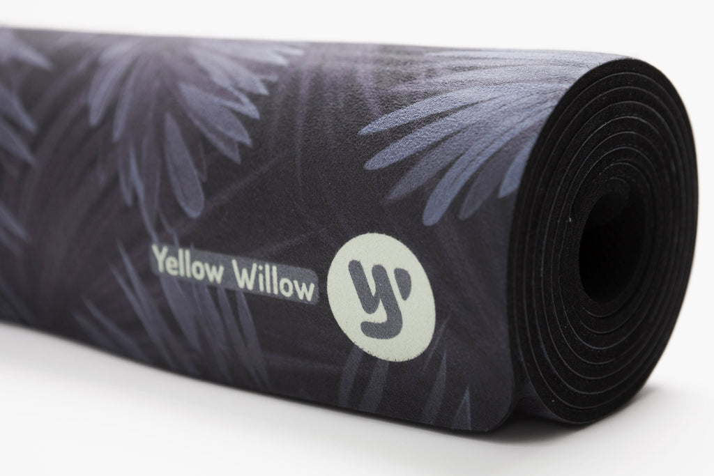 Midnight Palm Noir | Extra Long Yoga Mat