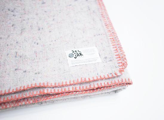 Orange Whipstitch | Recycled Wool Australian Made Blankets