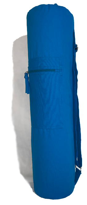 Turquoise Cotton Yoga Mat Bag