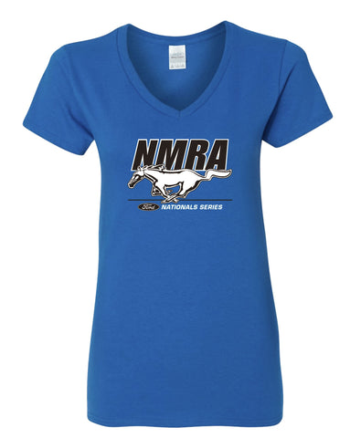 NMRA Women's Royal Blue Logo V-Neck T-Shirt