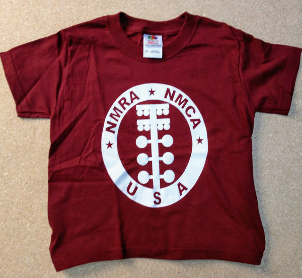 Kids Maroon Circle Logo Tee