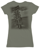 American Muscle Women's V-neck, Olive