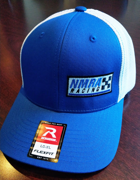 NMRA Racing Fitted Hat, Blue & White