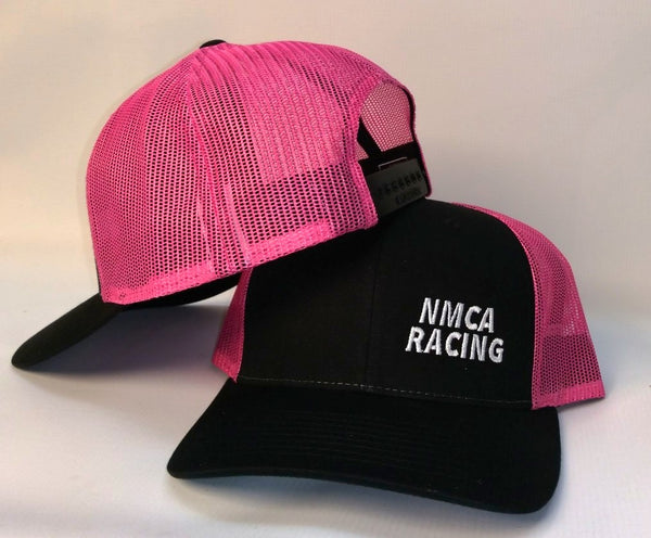 Pink & Black Trucker Hat, NMRA & NMCA