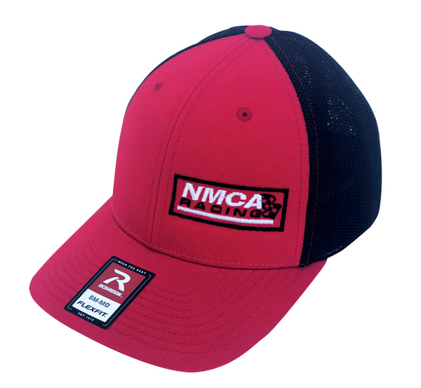 NMCA Racing Fitted Hat, Red & Black