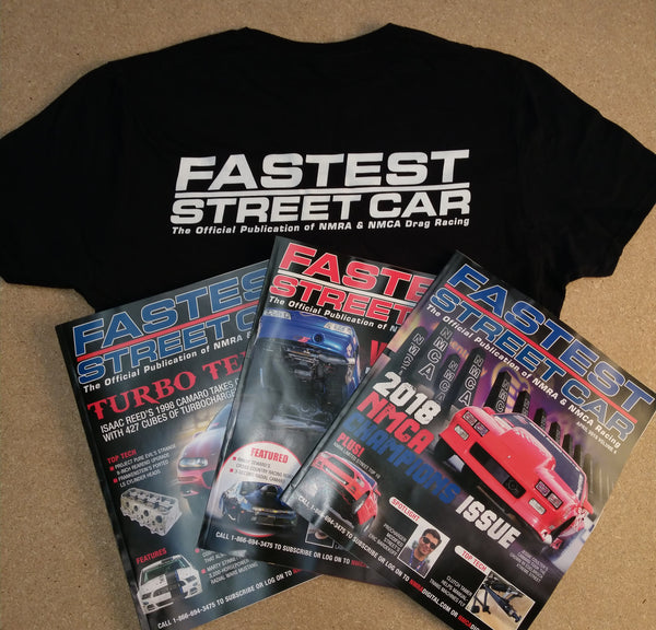 Fastest Street Car Magazine Subscription (12 Issues) <br>& FSC T-Shirt