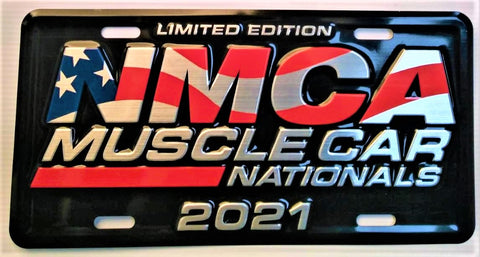 2021 Limited Edition NMCA Muscle Car Nationals License Plate