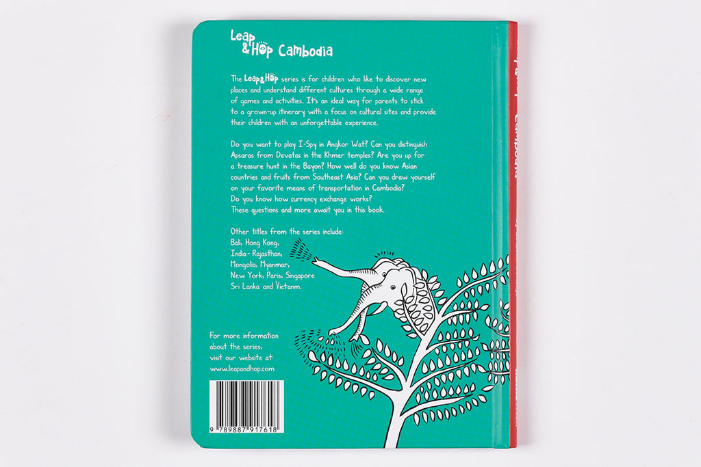 Travel book for kids in Cambodia - Back cover