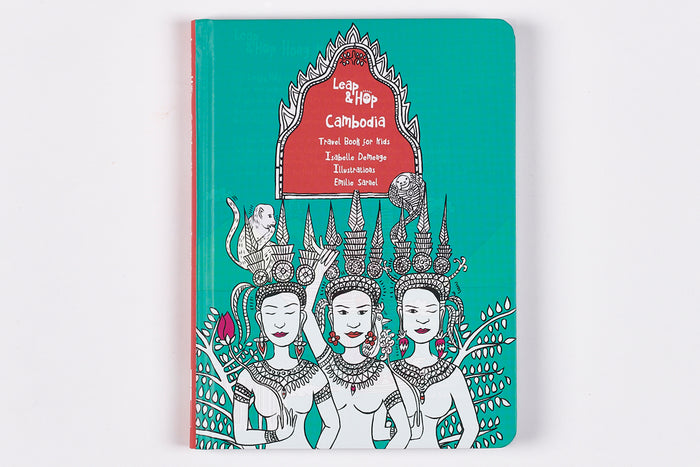 Travel book for kids in Cambodia - Leap & Hop Cover