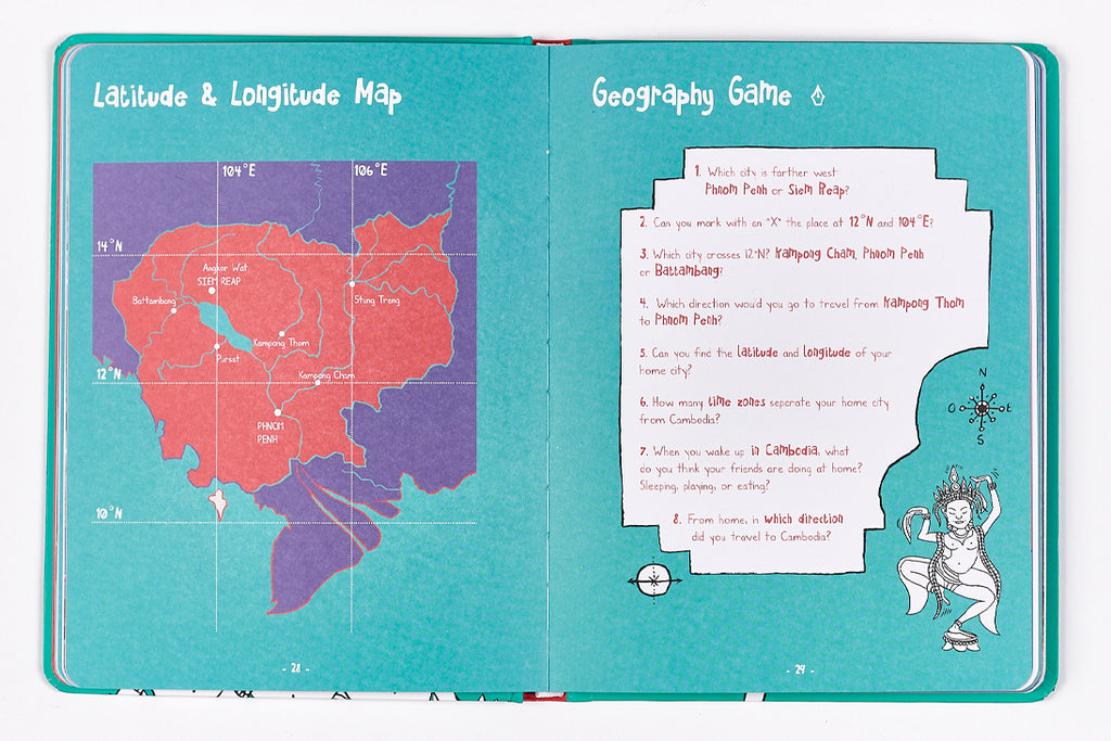 Travel book for kids in Cambodia - Geography Game