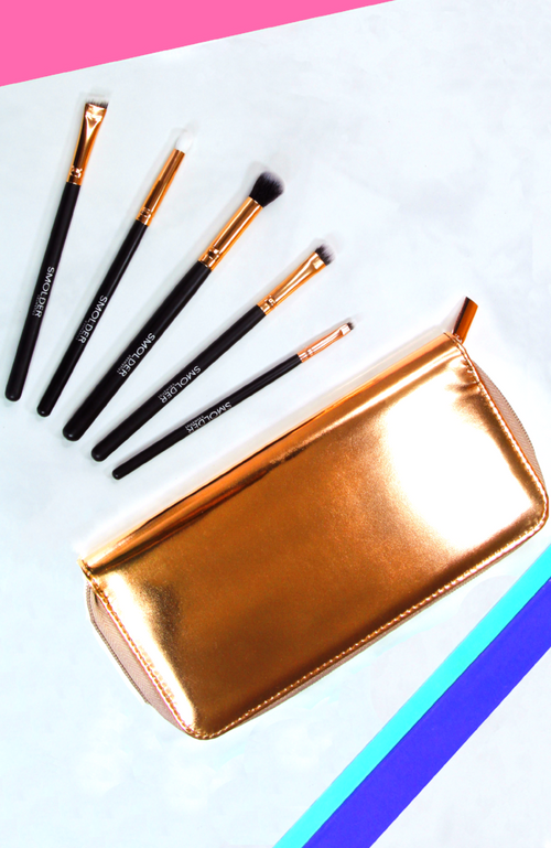 Rose Gold Eye Essentials Brush Set
