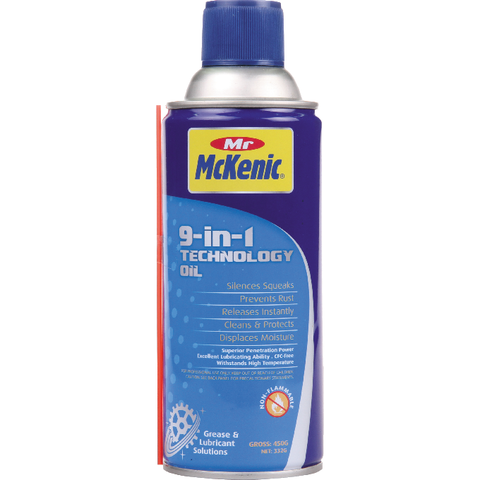 Mr McKenic 9-in1 Technology Oil – Non-flammable Penetrating Lubricant - Familoves 梵美樂