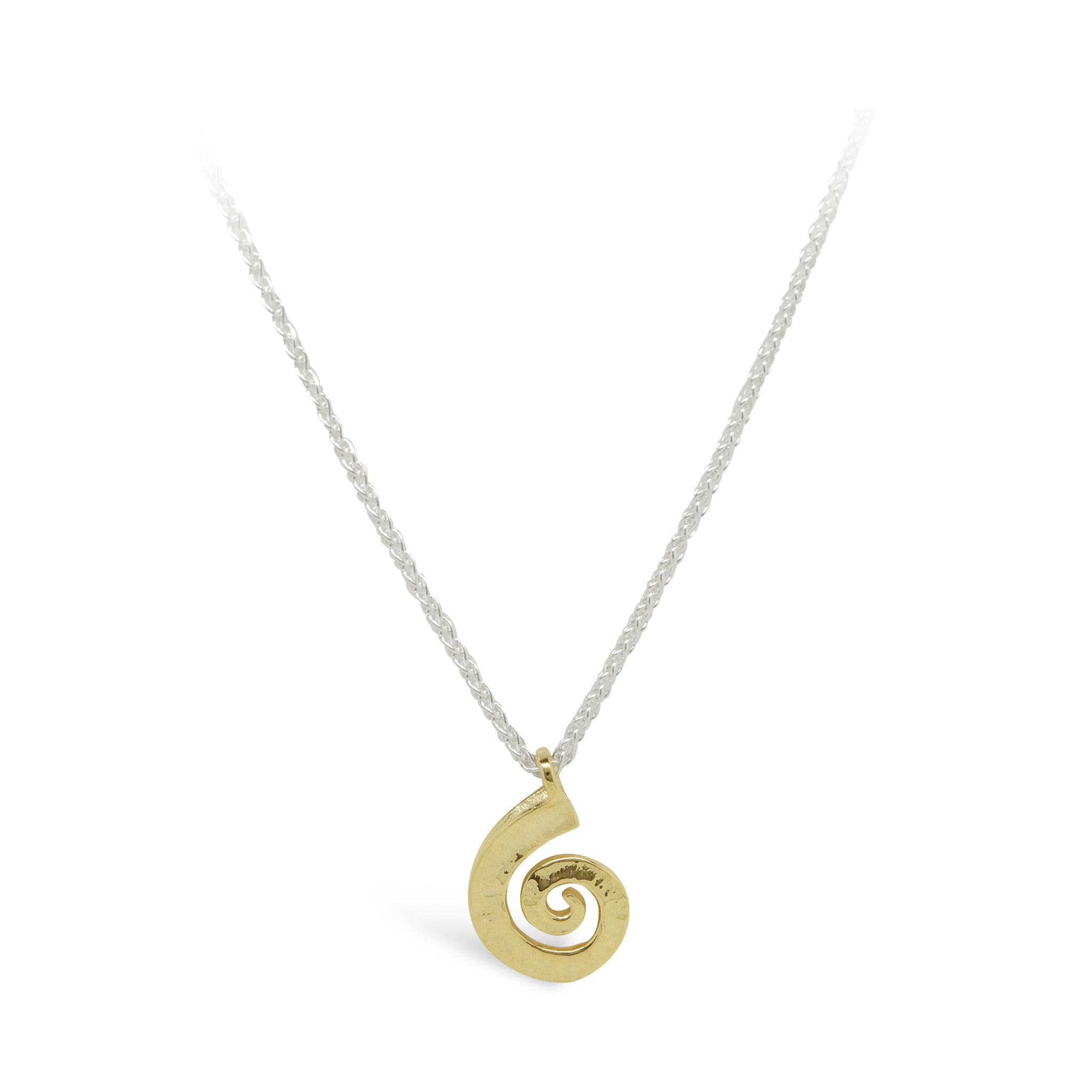 pendant the bug products silver archimedes spiral