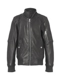 Combi boy leather jacket