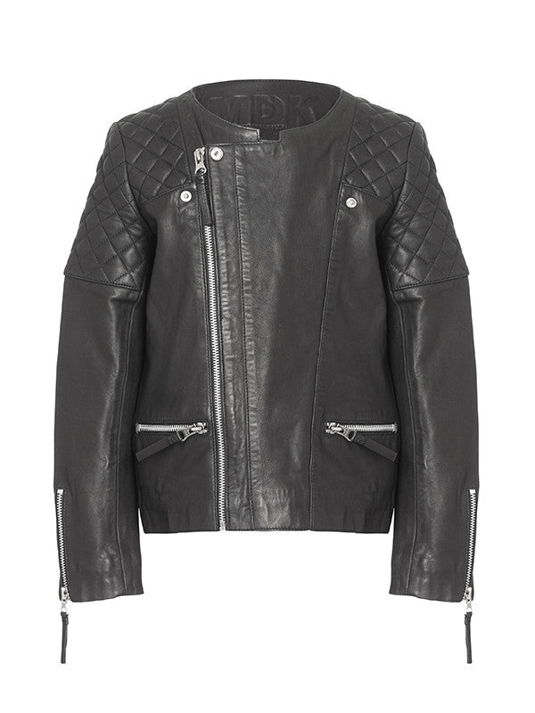 Mathilde girl leather jacket