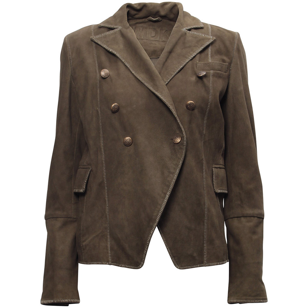 Hakuba suede jacket - green army