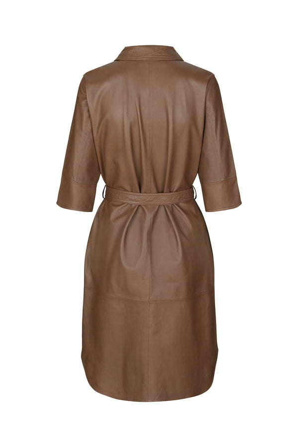 Clare Thin Leather Dress