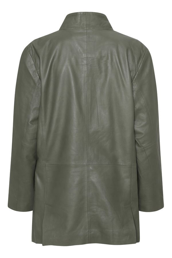 Coco Thin Leather Blazer