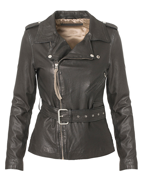 Haumea Thin Leather Jacket