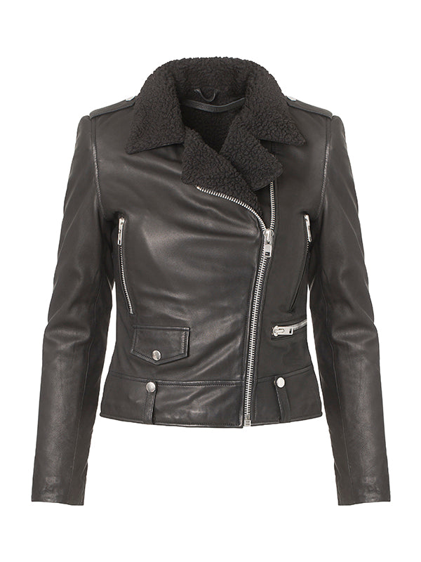 Seattle fur leather jacket