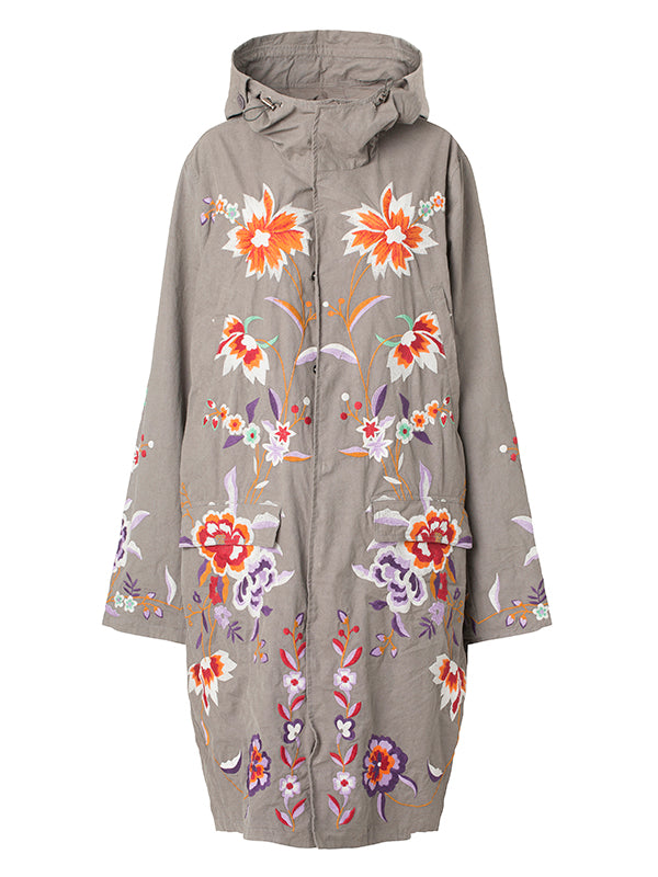 LONG FLOWER PARKA