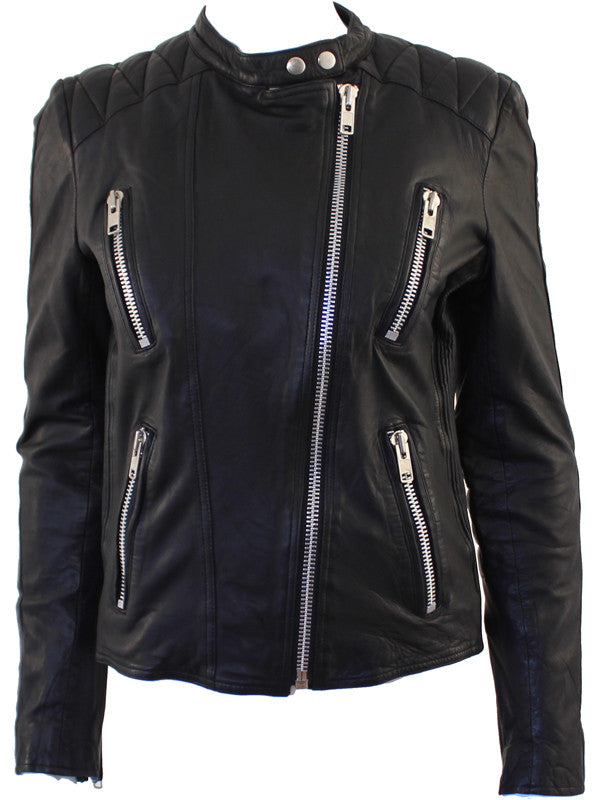 Summer biker leather jacket