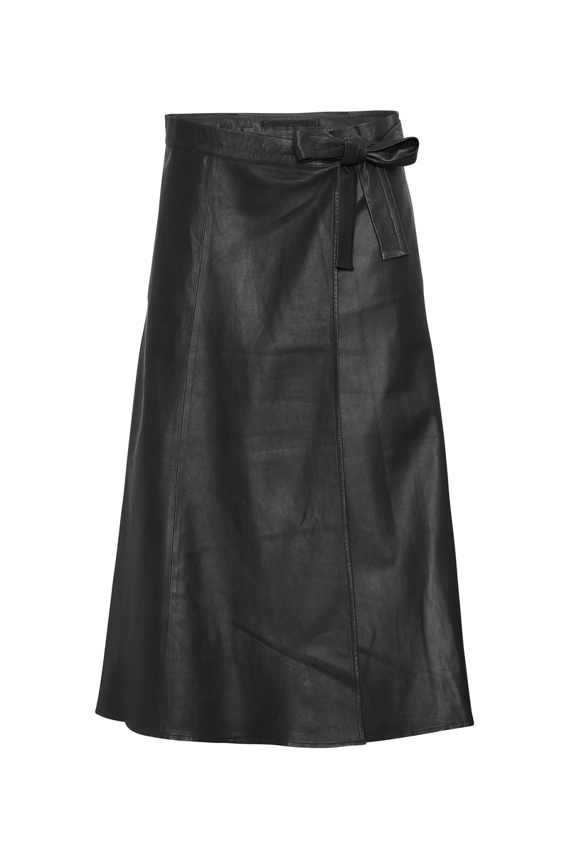 Adeline New Thin Leather Skirt
