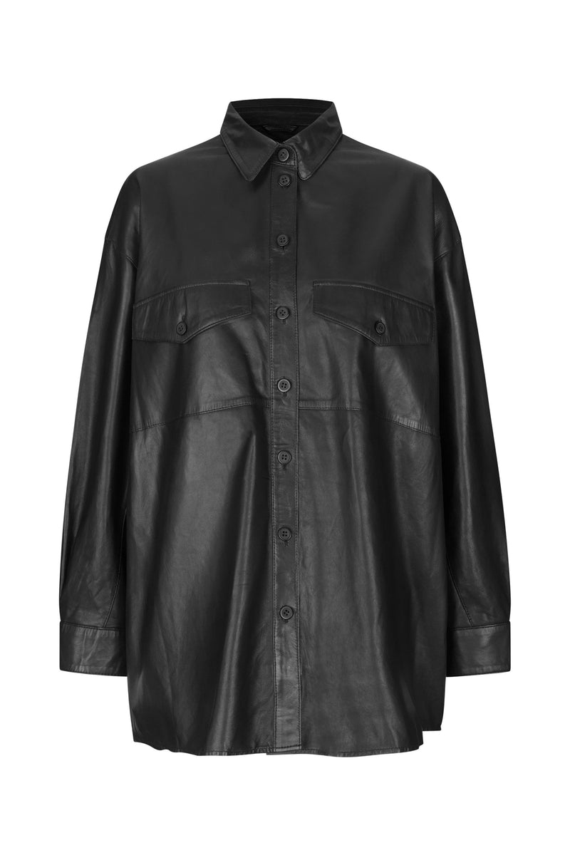 Agnes Thin Leather Shirt